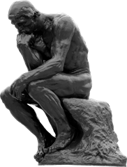 The Thinker statue image.