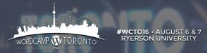 WordCamp Toronto 2016 banner image.