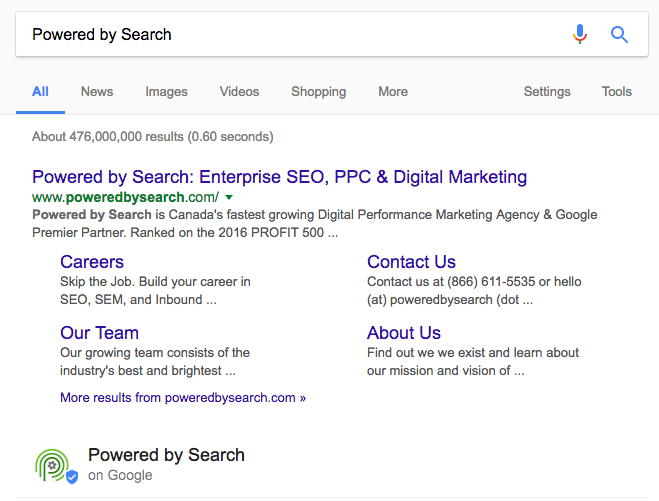 Powered by Search SERP snippet screenshot image.