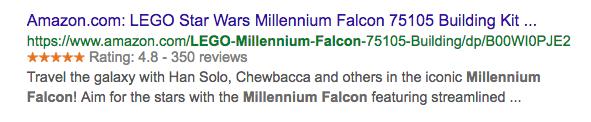 Millenium Falcon snippet image.